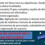 ASSISTENTE JURÍDICO – NOVA LIMA/MG