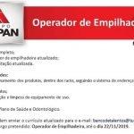 OPERADOR DE EMPILHADEIRA – RECIFE/PE