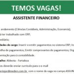 ASSISTENTE FINANCEIRO – FORTALEZA/CE