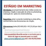 ESTAGIO EM MARKETING (ENVIAR CV 05/03/2020) – RECIFE/PE