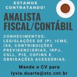 ANALISTA FISCAL CONTÁBIL – BELO HORIZONTE/MG