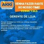 GERENTE DE LOJA – SÃO PAULO/SP