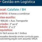 GESTOR DE LOGÍSTICA – BELO HORIZONTE/MG